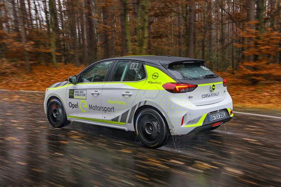 Opel Corsa-e Rallye ist rennbereit