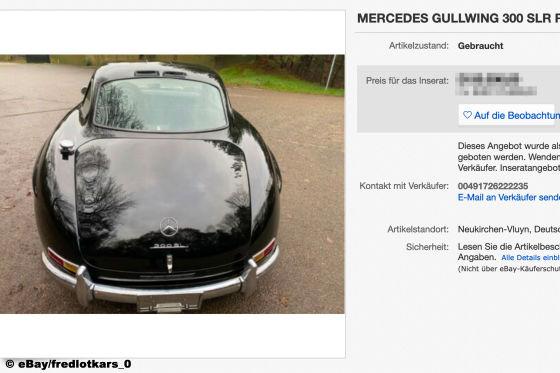 Mercedes Gullwing  300 SLR RECREATION 300 SL