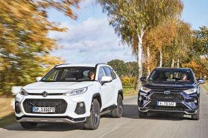 Zwei SUVs, ein Plug-in-Hybrid-System