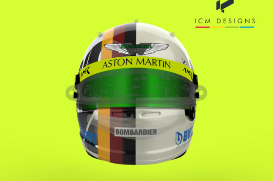 Sieht so Vettels neuer Aston Martin-Helm aus?