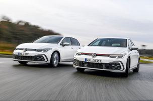 VW Golf GTE gegen VW Golf GTI
