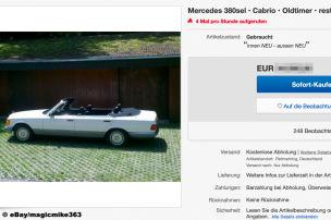 Viert�riges Mercedes 380 SEL Cabrio