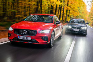 BMW 320i, Volvo S60 B4: Test