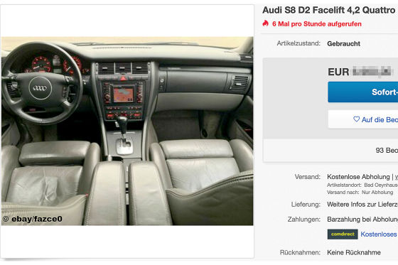 Audi S8 D2 Facelift 4,2 Quattro