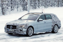 Mercedes C-Klasse T-Modell als Erlkönig mit wenig Tarnung gesichtet
