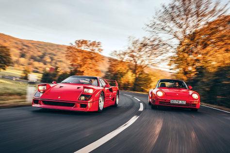 Ferrari F40   Porsche 959