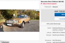 Goldene Mercedes S-Klasse von 1985 für 7500 Euro zu verkaufen!