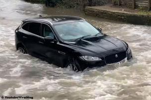 50.000 Euro teurer Jaguar F-Pace s�uft ab