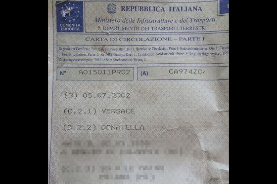 Mercedes SL 500 von Donatella Versace