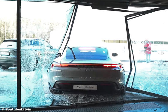 Porsche Taycan Crash