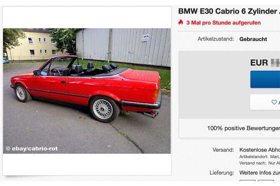BMW 3er E30 Cabrio 6 Zylinder
