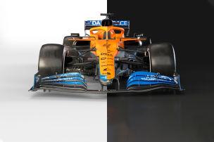 McLaren-Rennwagen 2021 versus 2020