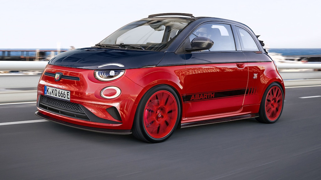 Wird so der vollelektrische Fiat 500e Abarth aussehen?