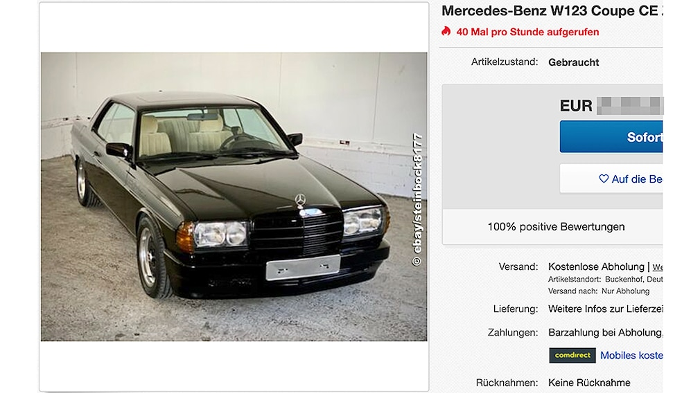 Mercedes-Benz W123 Coupe CE Zender AMG Styling
