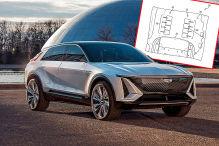 Cadillac Lyriq Patent Fußbodenmassage
