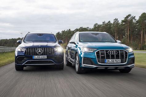 Audi SQ7 vs. Mercedes-AMG GLE 63 S: Test, Motor, Preis - autobild.de
