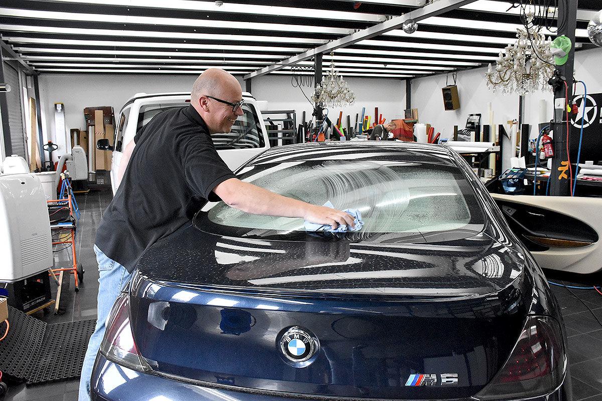 Autoscheiben tönen Nato-Oliv