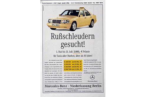 """Ab in den Osten: Berliner Mercedes-Händler suchen """"Rußschleudern""""."""