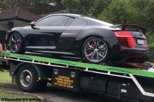 Audi R8 V8 geklaut und gecrasht