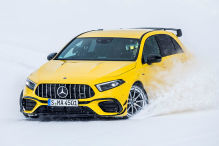 Wilde Fahrt mit dem A 45 S auf dem Sachsenring bei Schnee