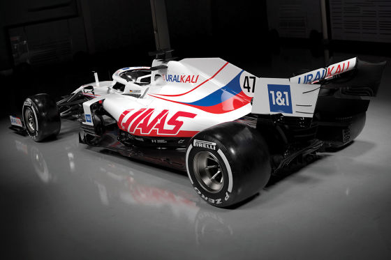 Schumachers US-Auto im Russen-Design