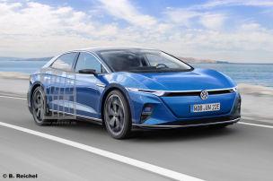 So k�nnte VWs neue E-Limo aussehen