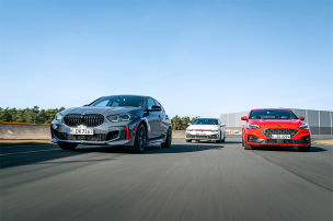 BMW 128ti, Ford Focus ST, VW Golf GTI