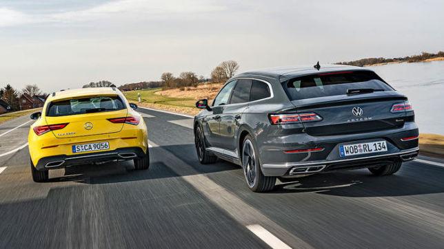 Mercedes CLA gegen VW Arteon