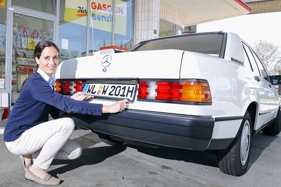 Mercedes 190 Typ W201  (1983)  Redaktionsfahrzeug bekommt das H-Kennzeichen