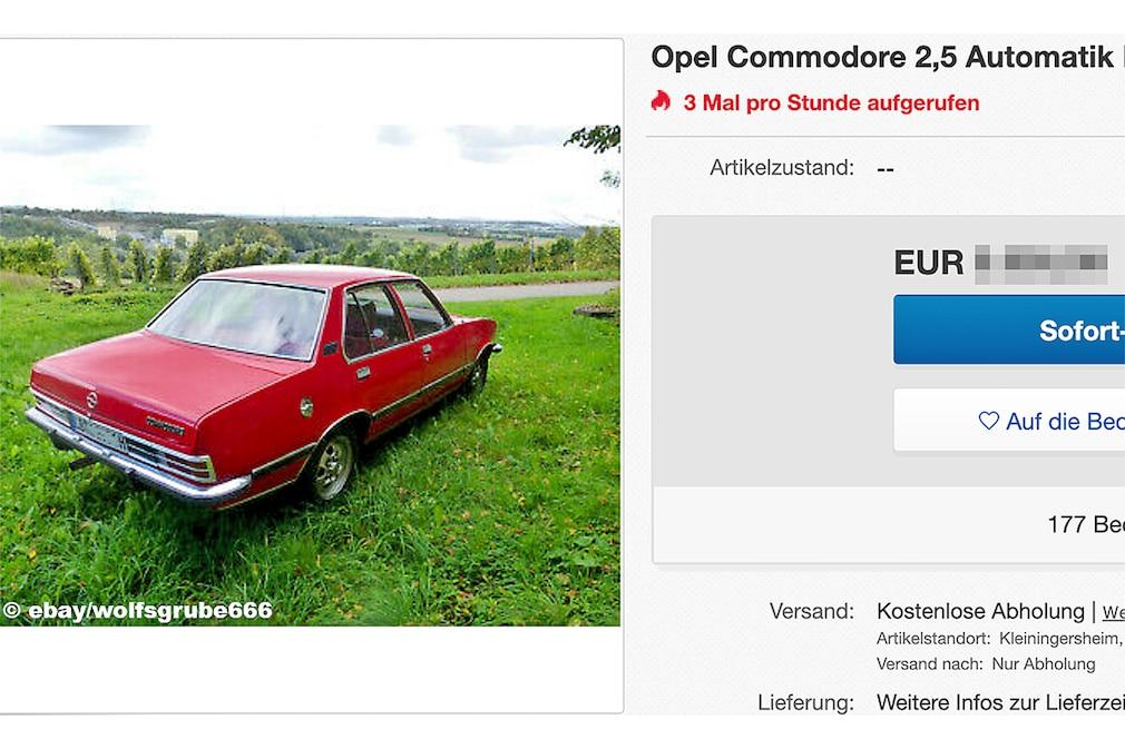 Opel Commodore 2,5 Automatik H-Kennzeichen