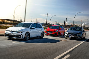 Ford Focus, Mercedes A-Klasse, VW Golf: Test