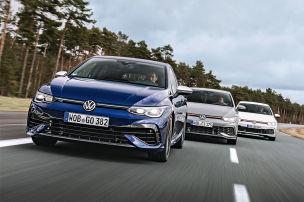 VW Golf GTI, Golf GTI Clubsport, Golf R: Test
