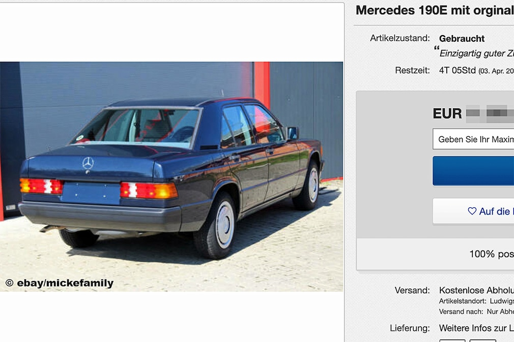 Mercedes 190E mit orginal 25.900km
