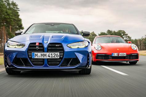 BMW M4 vs. Porsche 911 Carrera S: Test, Motor, Preis, Sportwagen - autobild.de