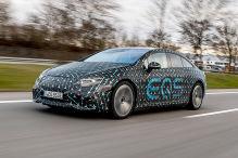 Mercedes EQS mit Tarnung