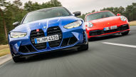 BMW M4 und Porsche 911 am Limit