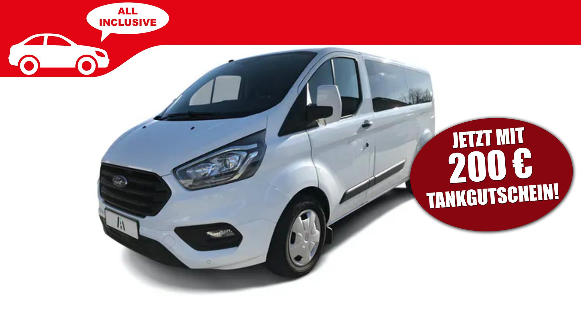 Ford Transit Custom mit neun Sitzen im günstigen Auto-Abo mieten