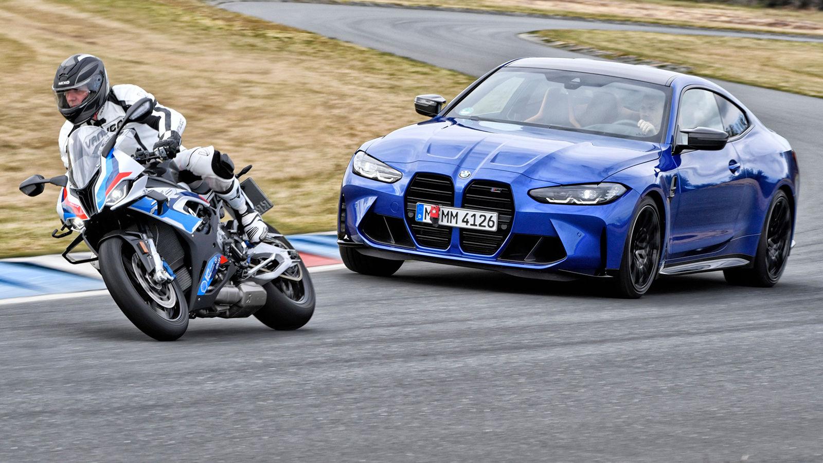 BMW M4 vs. M 1000 RR (2021): Test - Vergleich - Motorrad ...