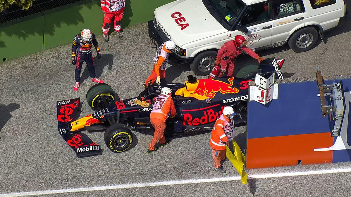Formel-1-Imola-GP-Training-Verstappen-von-Defekt-gebremst