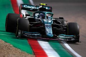 Feuer an Vettels Aston Martin