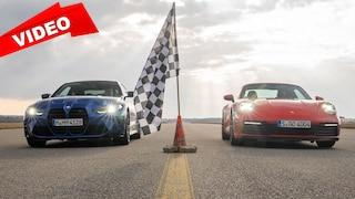 Wer ist schneller auf der 1/4-Meile? 911 Carrera S vs. M4
