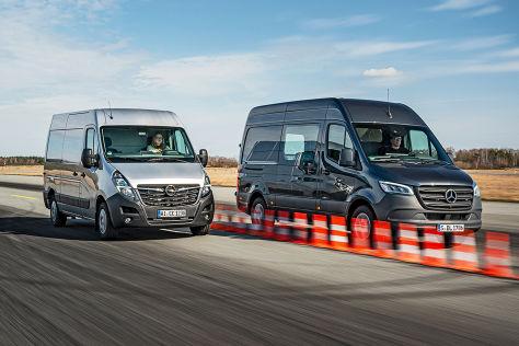 Mercedes Sprinter gegen Opel Movano: Transporter im Test - autobild.de
