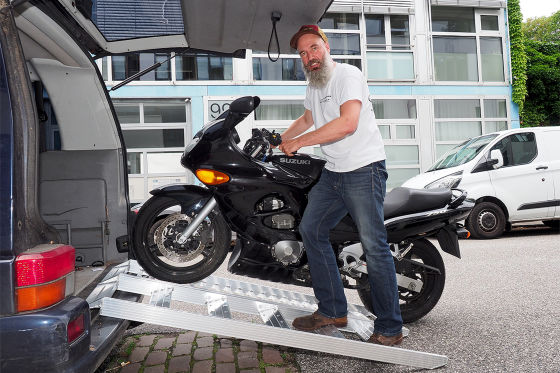 Motorrad Zubehör -  Polo Motorrad Rampe