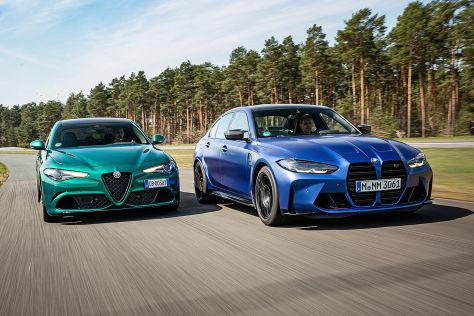 Alfa Giulia Quadrifoglio vs. BMW M3 Competition: Test, Motor, Preis - autobild.de