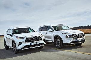 Hyundai Santa Fe vs. Toyota Highlander