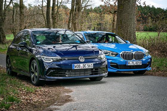 VW Golf VIII 1.5 eTSI     BMW 118i