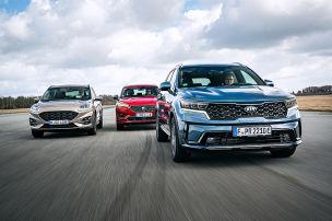 Drei Plug-in-Hybrid-SUVs im Vergleich