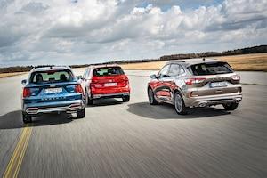 Kia Sorento 1.6 T-GDI Plug-in Hybrid AWD Platinum        Seat Tarraco 1.4 e-Hybrid FR         Ford Kuga 2.5 Duratec PHEV ST-Line