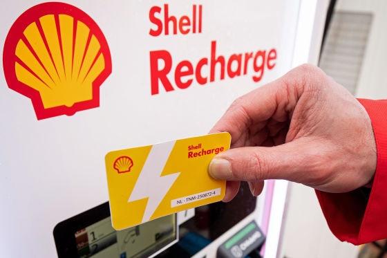 Ladekarte von Shell Recharge