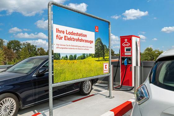 Kaufland eröffnet 100. Schnellladestation für Elektroautos